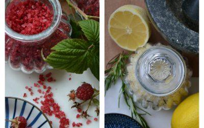 Himbeer-Salz & Zitronen-Rosmarin Salz
